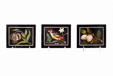 Set of Three Pietre Dure panels