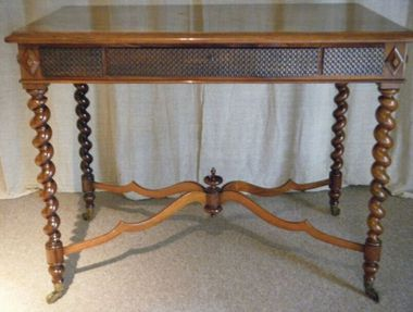 19thc Rosewood Writing Table