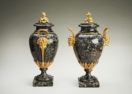 Exceptional Pair Of Louis Xvi Marble And Ormolu Vases Archive